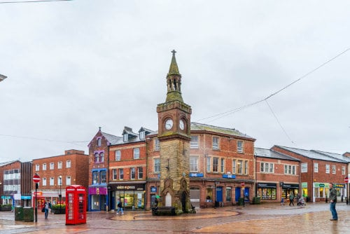 Ormskirk Town centre clock